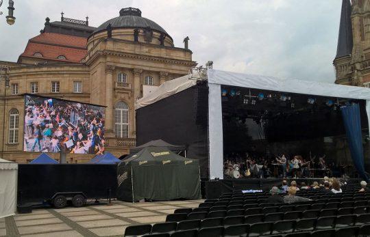 LED Trailer 15m² Dresden Fest