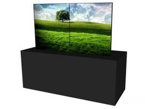Steglose Videowand 2x2 aus 46 Zoll Displays mieten