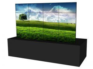Steglose Videowand 4x4 aus 46 Zoll Displays mieten