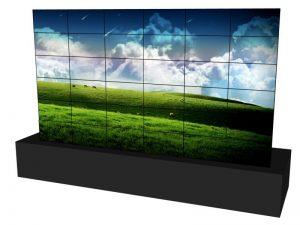 Steglose Videowand 6x6 aus 46 Zoll Displays mieten