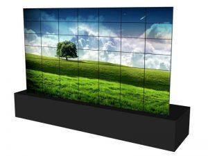 Steglose Videowand 7x7 aus 46 Zoll Displays mieten