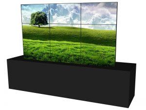 Steglose Videowand 3x3 aus 46 Zoll Displays mieten