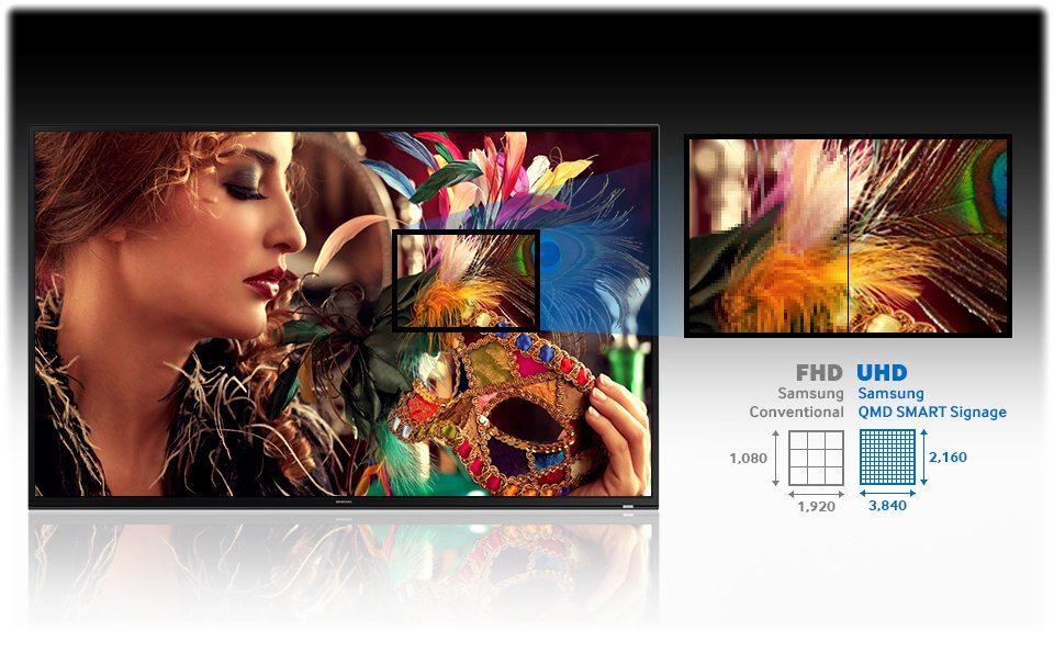 85 zoll led samsung qm85d neuware kaufen logando. Black Bedroom Furniture Sets. Home Design Ideas