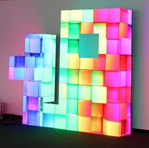 led wand modul ecke 90 ledcon sl mieten. Black Bedroom Furniture Sets. Home Design Ideas