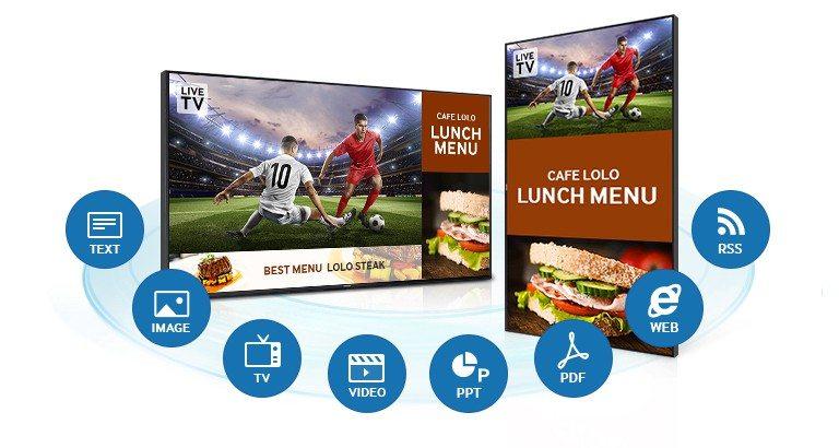 Samsung TV RH55E content