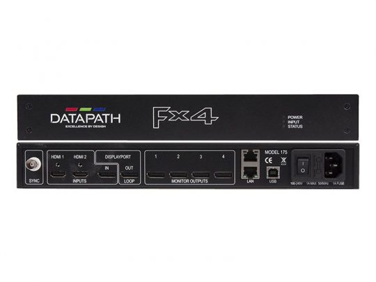 Display Controller - Datapath FX4D mieten-Front-Back