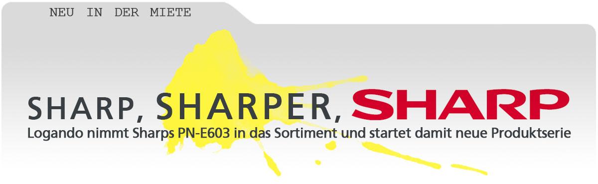 sharp-head pn e603 mieten kaufe newsletter sharp