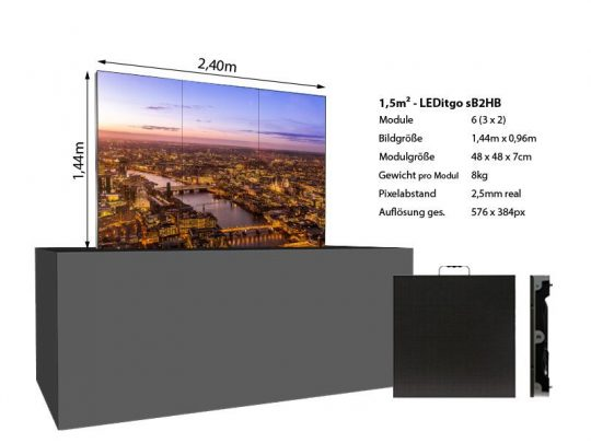 LED Wand 1,44x0,96m 1,5qm - LEDitgo 2,5-details