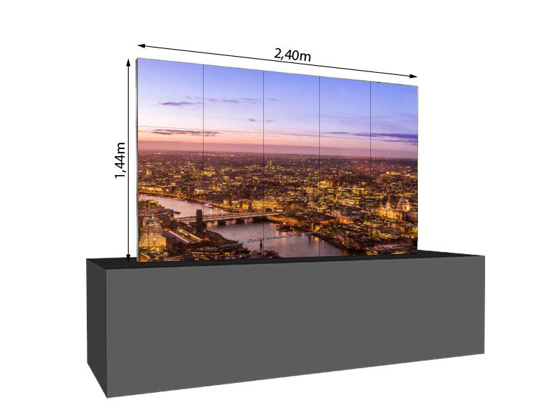 led wand 2 40m x 1 44m 2 5mm leditgo sb2hb mieten logando. Black Bedroom Furniture Sets. Home Design Ideas