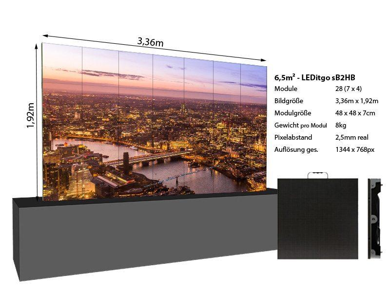 LED Wand 3,36m x 1,92m 6,5qm - LEDitgo 2,5-details