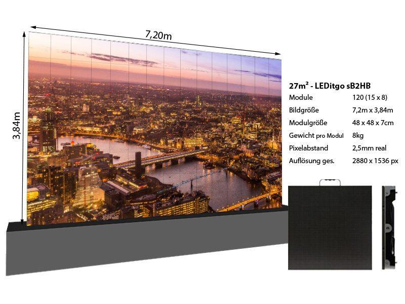LED Wand 7,20m x 3,84m - LEDitgo 2,5-details