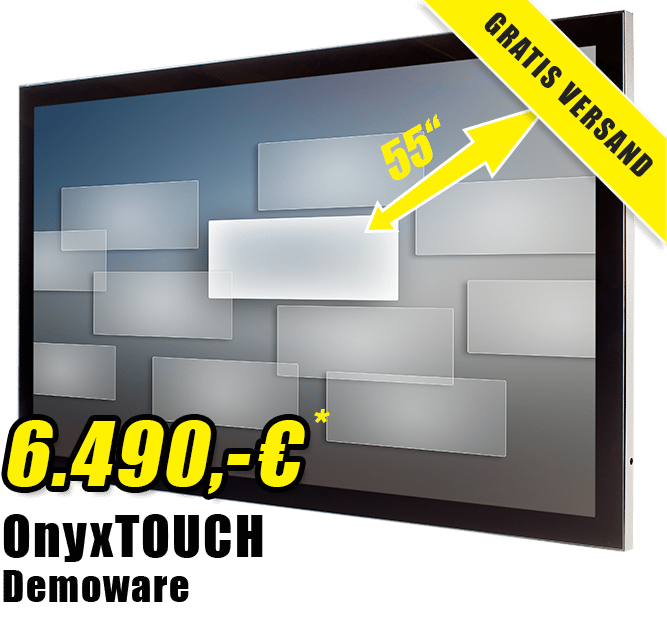 onyxTouch demoware kaufen newsletter2