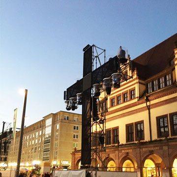 Reformationswochenende 2017 Wittenberg Festgottesdienst - Leipzig Marktplatz Reformationsperformance zum Licht