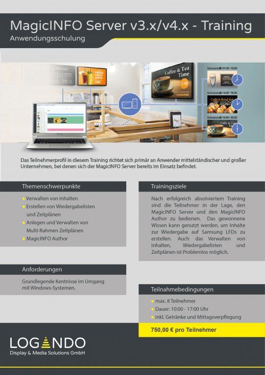 MagicINFO Server v3.x v4.x Installation und Einrichtung