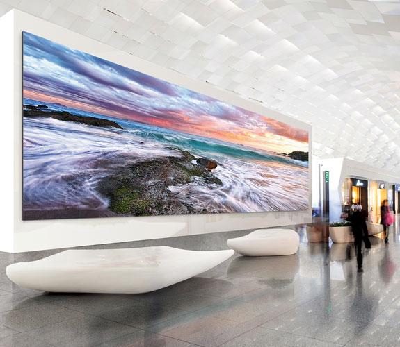 217 Zoll Full HD LED Wand von Samsung Anwendungsbild