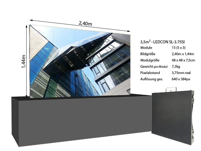 LED-Wand-2,40m-x-1,44m---3,75mm-LEDCON-SL-3,75SI-+-Infos