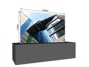 LED Wand 2.40m x 1.44m - 3.75mm LEDCON SL-3.75SI mieten