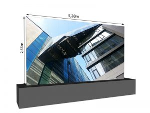 LED Wand 5.28m x 2.88m - 3.75mm LEDCON SL-3.75SI mieten