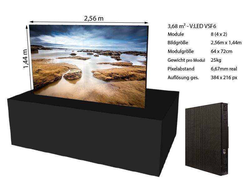 LED Wand 2,56m x 1,44m – V:LED VSF6 mieten
