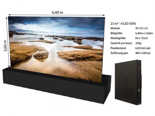 LED Wand 6,40m x 3,60m – V:LED VSF6 mieten