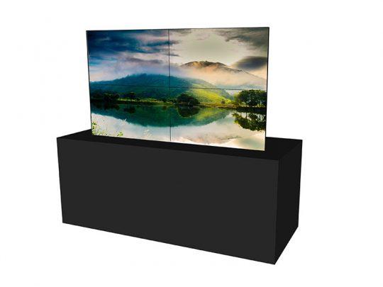 Steglose-Videowand--2x2-aus-55-Zoll-Displays-mieten