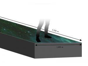 LED Boden 1.00m x 5.00m - 5.95mm Innlights InnScreen M5 mieten