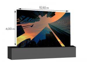 LED Wand 10.50m x 6.00m - 5.95mm Innlights InnScreen M5 mieten