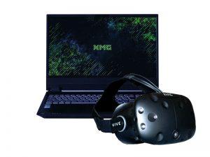 Set VR-Brille und 15.6 Zoll Laptop - HTC Vive und XMG 15 Pro mieten