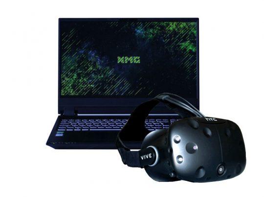 Set VR-Brille und 15,6 Zoll Laptop - HTC Vive und XMG 15 Pro mieten