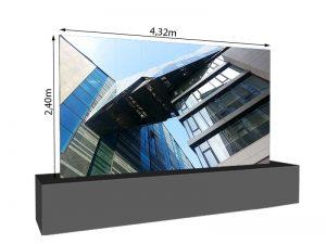 LED Wand 4.32m x 2.40m - 3.75mm LEDCON SL-3.75SI mieten