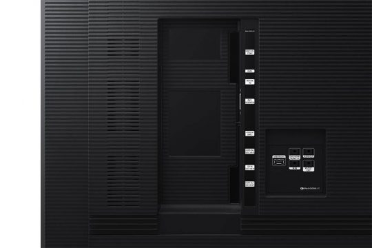 Samsung-QM75R-mieten-75-Zoll-4K-UHD_Detail_Black-Samsung QM75R